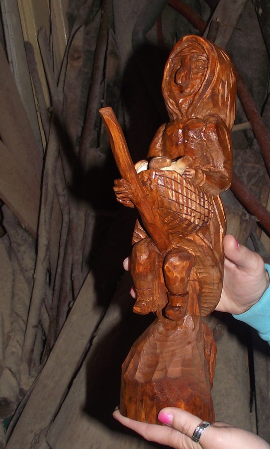 Witch carving